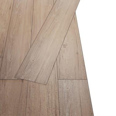 vidaXL Self-adhesive PVC Flooring Planks 54 ft² Oak Brown[3/8]