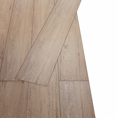 vidaXL PVC grindų plokštės, prilipdomos, 5,02m², 2mm, ąžuolo ruda[4/8]