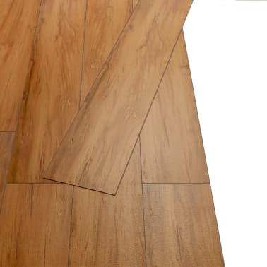 vidaXL PVC grindų plokštės, prilipd., 5,02m², 2 mm, natūr. guobos sp.[3/8]