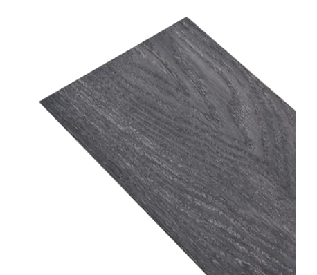 vidaXL Self-adhesive PVC Flooring Planks 54 ft² Black and White[3/8]