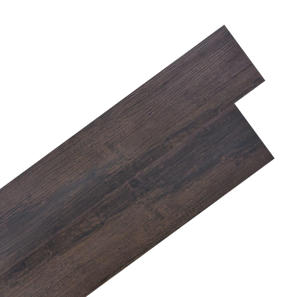 vidaXL Samolepící podlahová krytina PVC 5,02 m² 2 mm tmavě hnědá