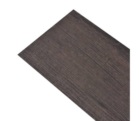 vidaXL Självhäftande PVC-golvplankor 5,02 m² mörkgrå ek[2/8]