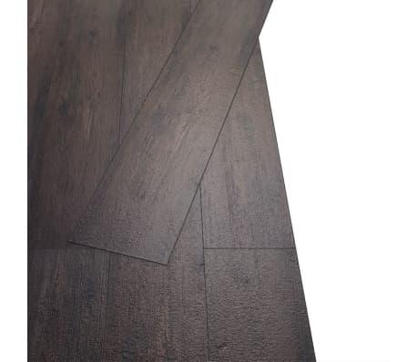 vidaXL Självhäftande PVC-golvplankor 5,02 m² mörkgrå ek[3/8]