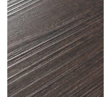 vidaXL Självhäftande PVC-golvplankor 5,02 m² mörkbrun[6/8]