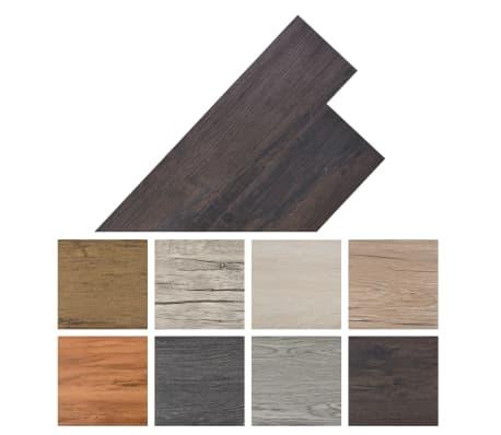 vidaXL Självhäftande PVC-golvplankor 5,02 m² mörkbrun[8/8]