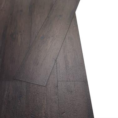 vidaXL Självhäftande PVC-golvplankor 5,02 m² mörkbrun[3/8]