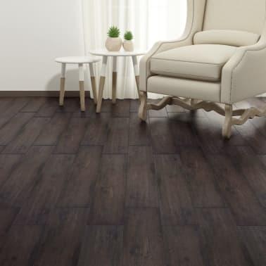 vidaXL Självhäftande PVC-golvplankor 5,02 m² mörkbrun[4/8]