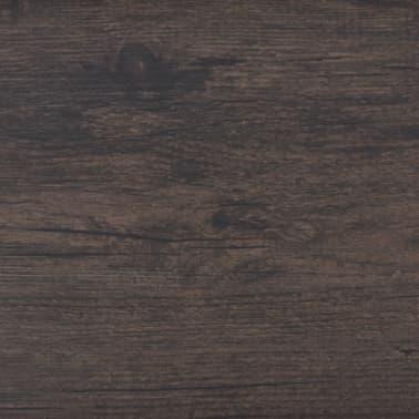 vidaXL Självhäftande PVC-golvplankor 5,02 m² mörkbrun[5/8]
