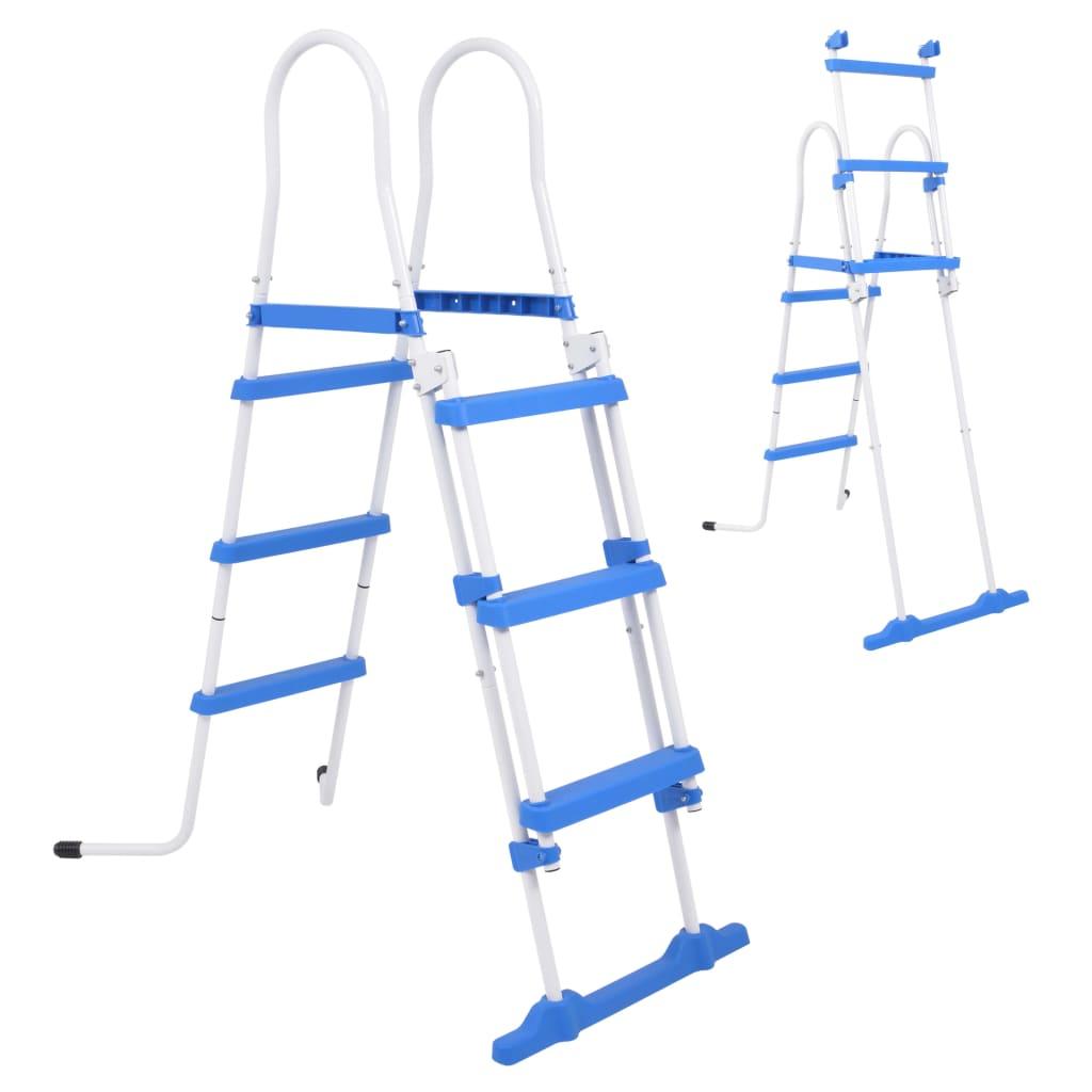 Afbeelding van vidaXL Zwembadladder met 3 treden voor bovengrondse zwembaden 107 cm