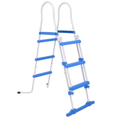 vidaXL Above-Ground Pool Safety Ladder with 3 Steps 107 cm[2/7]
