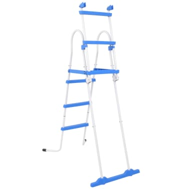 vidaXL Above-Ground Pool Safety Ladder with 3 Steps 107 cm[4/7]
