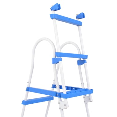 vidaXL Above-Ground Pool Safety Ladder with 3 Steps 107 cm[5/7]