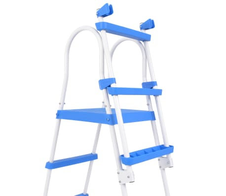 "vidaXL Above-Ground Pool Safety Ladder with 3 Steps 48.0""[4/6]"
