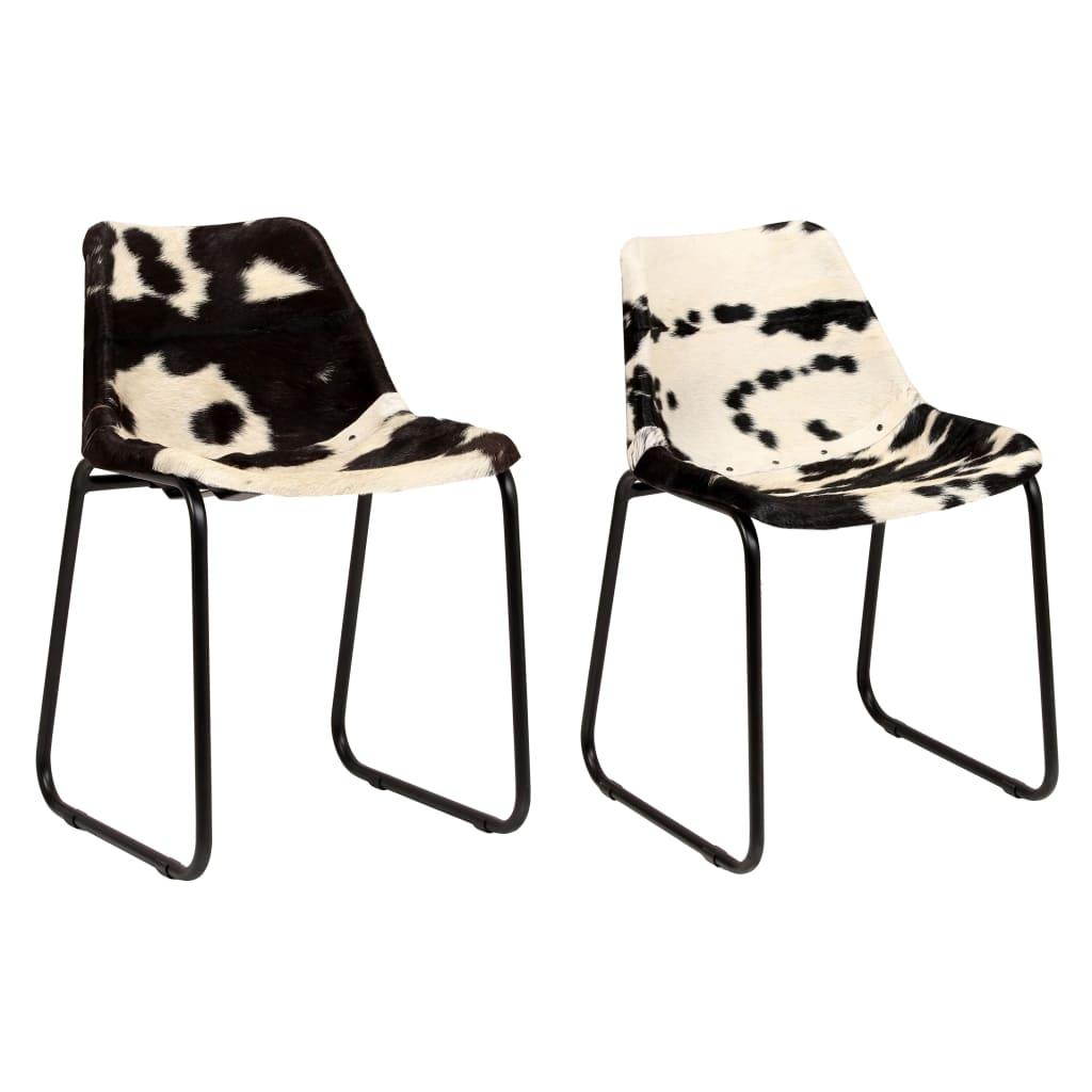 vidaXL Jídelní židle 2 ks z pravé kozí kůže
