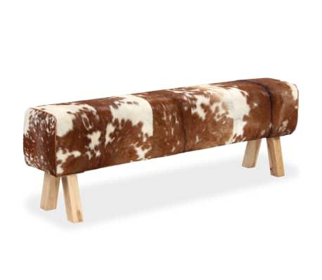 vidaXL Suoliukas, tikra ožkos oda, 160x28x50 cm[2/15]