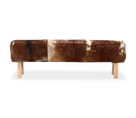 vidaXL Klupa od prave kozje kože 160 x 28 x 50 cm[3/15]