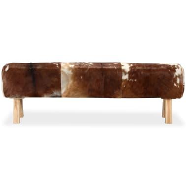 vidaXL Suoliukas, tikra ožkos oda, 160x28x50 cm[3/15]