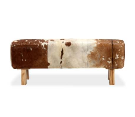 vidaXL Suoliukas, tikra ožkos oda, 120x30x45 cm[3/15]