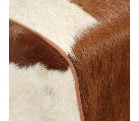 vidaXL Klop iz pravega kozjega usnja 120x30x45 cm[4/15]