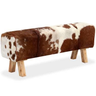 vidaXL Suoliukas, tikra ožkos oda, 120x30x45 cm[2/15]