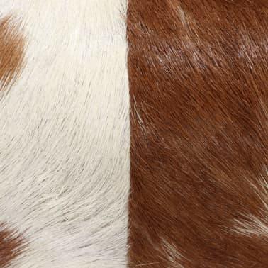 vidaXL Stolček iz pravega kozjega usnja 60x30x50 cm[4/13]