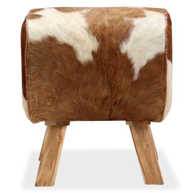 vidaXL Tabure od prave kozje kože 40 x 30 x 45 cm[2/15]