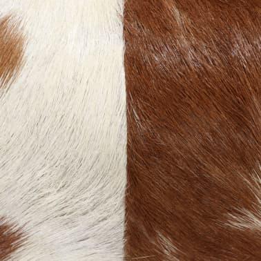 vidaXL Stolček iz pravega kozjega usnja 40x30x45 cm[4/15]