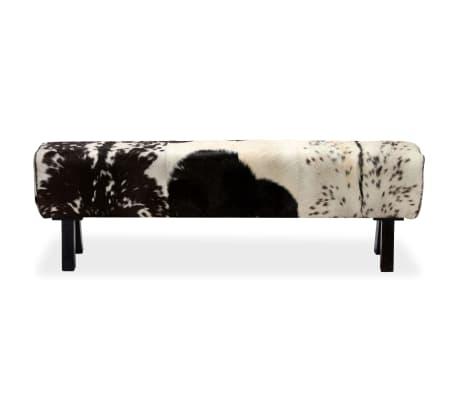 vidaXL Suoliukas, tikra ožkos oda, 160x28x50 cm[3/16]
