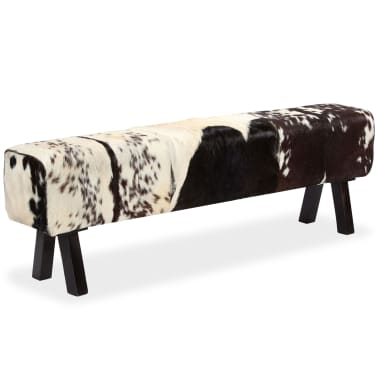 vidaXL Suoliukas, tikra ožkos oda, 160x28x50 cm[2/16]