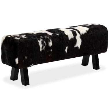 vidaXL Bancă din piele naturală de capră 120x30x45 cm[2/16]