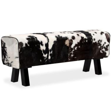 vidaXL Bancă din piele naturală de capră 120x30x45 cm[11/16]
