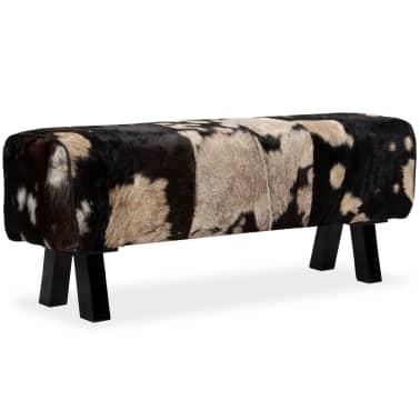 vidaXL Bancă din piele naturală de capră 120x30x45 cm[14/16]
