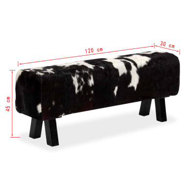 vidaXL Bancă din piele naturală de capră 120x30x45 cm[16/16]