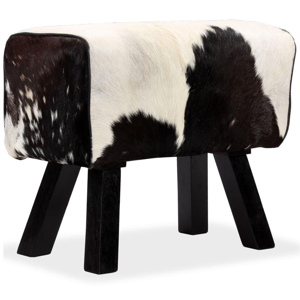vidaXL Taburet, 60x30x50 cm, piele naturală de capră poza vidaxl.ro