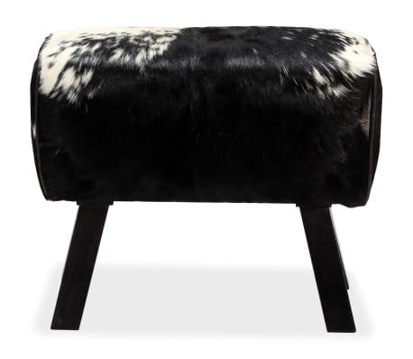 vidaXL Taburetė, tikra ožkos oda, 60x30x50 cm[2/15]