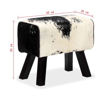 vidaXL Taburetė, tikra ožkos oda, 60x30x50 cm[15/15]