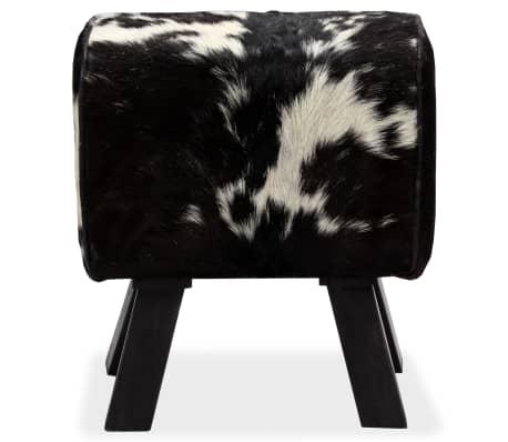 vidaXL Taburetė, tikra ožkos oda, 40x30x45 cm[2/15]