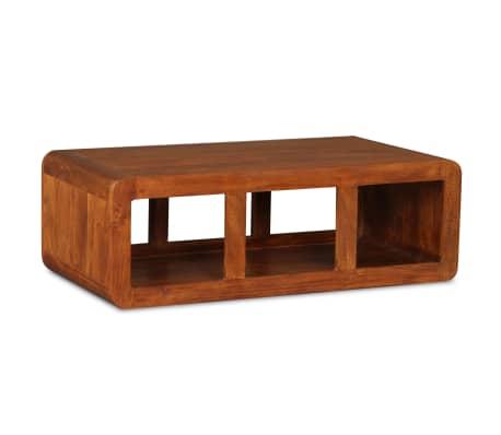 vidaXL Kavos staliukas, mas. med. su dalbergijos apd., 90x50x30cm