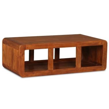 vidaXL Kavos staliukas, mas. med. su dalbergijos apd., 90x50x30cm[1/11]