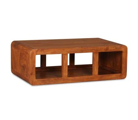 vidaXL Kavos staliukas, mas. med. su dalbergijos apd., 90x50x30cm[2/11]