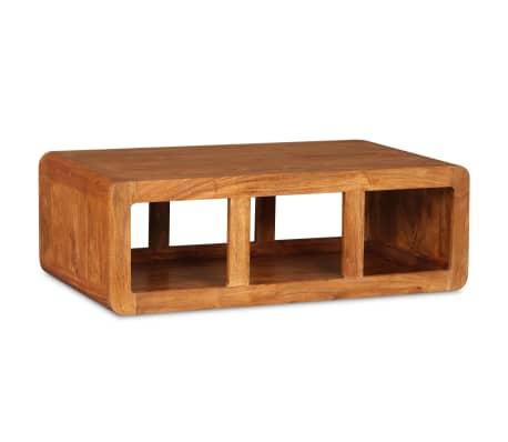 vidaXL Kavos staliukas, mas. med. su dalbergijos apd., 90x50x30cm[3/11]