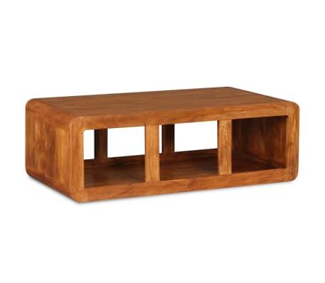 vidaXL Kavos staliukas, mas. med. su dalbergijos apd., 90x50x30cm[4/11]