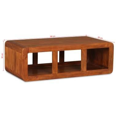 vidaXL Kavos staliukas, mas. med. su dalbergijos apd., 90x50x30cm[11/11]