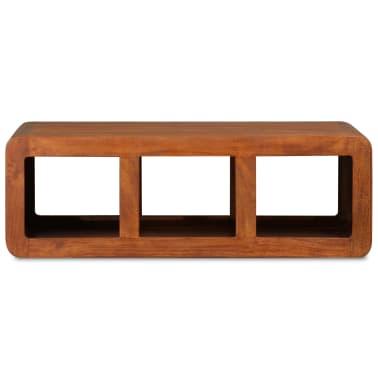 vidaXL Kavos staliukas, mas. med. su dalbergijos apd., 90x50x30cm[6/11]