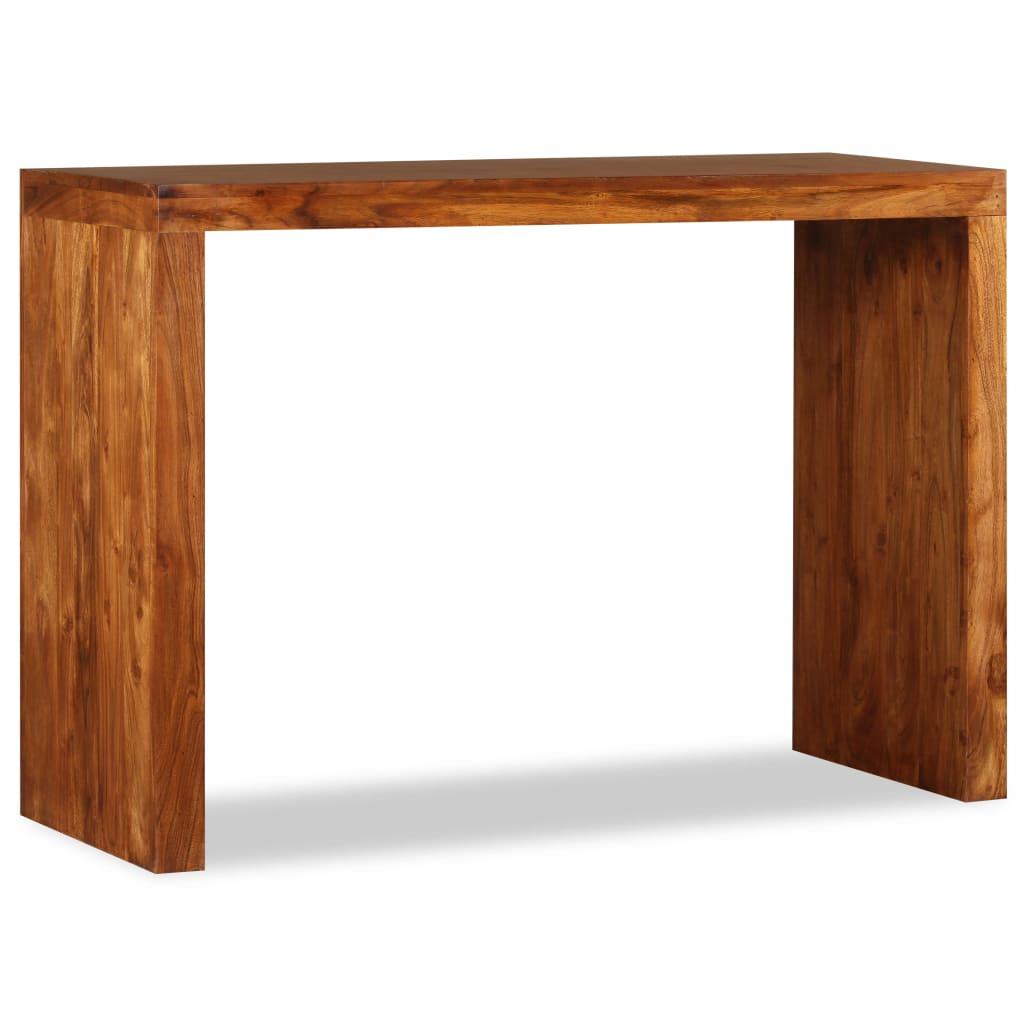 vidaXL Odkládací stolek, dřevěný masiv a sheesham, 110x40x76 cm