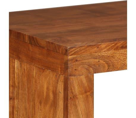 vidaXL Konsolinis staliukas, rausv. dalbergijos mediena, 110x40x76cm[7/10]