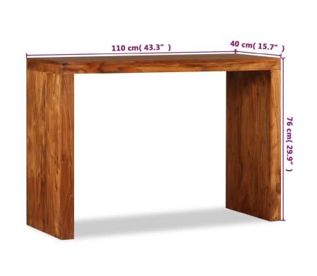 vidaXL Konsolinis staliukas, rausv. dalbergijos mediena, 110x40x76cm[10/10]