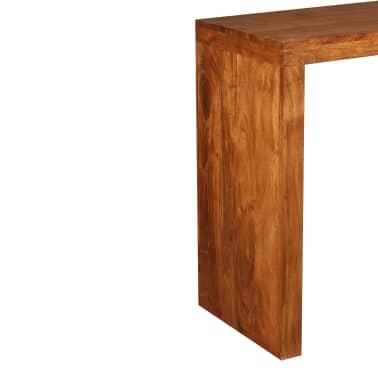 vidaXL Konsolinis staliukas, rausv. dalbergijos mediena, 110x40x76cm[8/10]