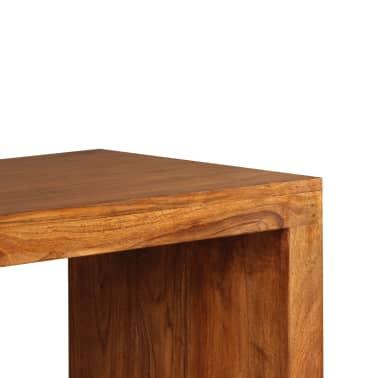 vidaXL Konsolinis staliukas, rausv. dalbergijos mediena, 110x40x76cm[9/10]
