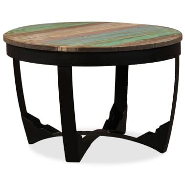 vidaXL Šoninis staliukas, masyvi perdirbta mediena, 60x40 cm[1/11]